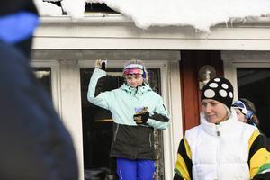 Ruth Olsson, Matfors SK, fick kliva högst upp på pallen i klassen D10, jaktstart.