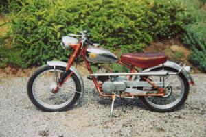 En av de många motorcyklar som Helge Trygg ägt genom åren.