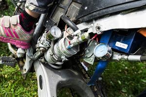 De motorcyklar som åkarna har är specialbyggda och har många finesser för att klara av den typen av åkning som hillclimb innebär.