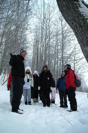 Axel Larsson agerade guide och berättade om St Olov.