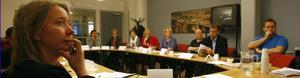 Maria Vallström, Söderhamn, är projektledare för FoU Hälsingland, som arbetat fram ideella föreningen Forskarforum Hälsingland. På tisdagen skedde uppstarten i Söderhamn.