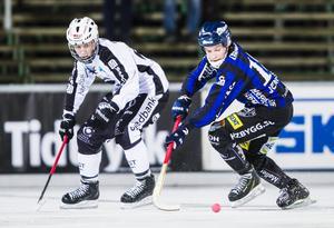 Junioren Hannes Edlund fick mycket speltid när Patrik Nilsson saknades på grund av sjukdom.