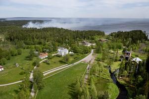 På fredagen anordnades en liten skogsbrand i Galtström.