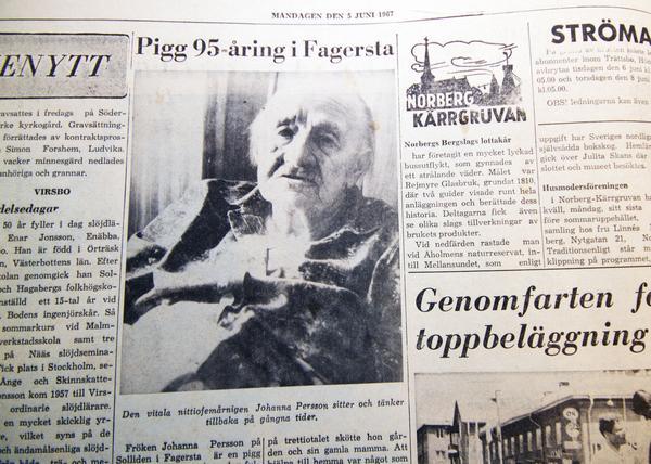 Den första artikeln i Fagersta-Posten med signaturen