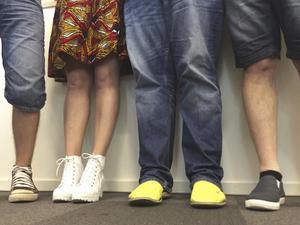 Facebook-bilden togs fram för att bjuda in lyssnarna till dagens ämne: Shorts eller inte på jobbet?