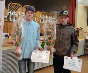 Nöjda stipendiater, Emil Jonsson och Jesper Svenningsson.