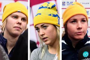 Anna Borgqvist, Erika Grahm och Annie Svedin. Brynäs-, Modo- och Sundsvallsspelare som ser ut att stanna i Sverige ett tag till.