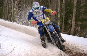 Bilden: Mikael Larsson, Bollnäs, vann den näst sista deltävlingen i Gävle-Dala Vintercup och toppar därmed tabellen totalt.