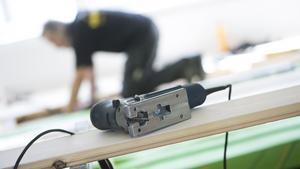 En anställd på ett byggföretag i Borlänge skadades vid en arbetsplatsolycka tidigare i veckan. Foto: Fredrik Sandberg