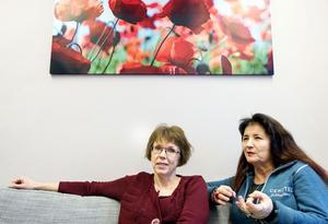 Affärsuppgörelser och inspiration är vad Ann-Chatrin Granbäck och Ann Järneström hoppas att mässan ska leda till.
