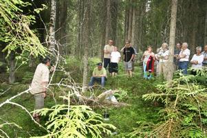 BYAORIGINAL. Staffan Berglind ledde sommarens första byavandring i Kalvsnäs. Han tog med besökarna ut i skogen där han berättade om tre olika skogshuggare som kom för att arbeta på orten i början på 50-talet.FOLKSKYGG. Originalet Gert Linde byggde en egen koja på en kolbotten i skogen där han bodde. Trots att han varken hade almanacka eller klocka klarade han av att hålla reda på vilken dag det var.