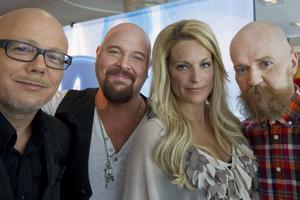 """Årets jury i """"Idol"""". Från vänster: Pelle Lidell, Anders Bagge, Laila Bagge Wahlgren och Alexander Bard."""