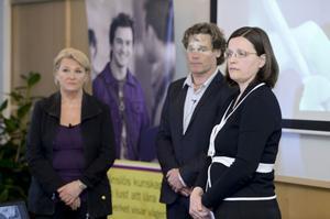 Från vänster Anita Wester, projektledare, Anders Auer, undervisningsråd och Anna Ekström, generaldirektör Skolverket, presenterade i går den dystra Pisa-rapporten om skolelevers kunskaper.