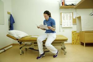 Maja Myrén, fysioterapeut.