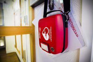 Kommunkontoret i Hudiksvall är utrustat med en hjärtstartare.