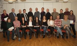 Glada Kramforsföretagare och finalister inför företagsgalan 2012.