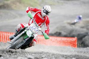 Björn Eriksson från Krokom, tävlandes för Woxnadalen, segrade i klassen MX Open.