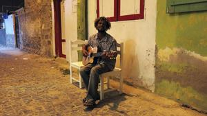 Lokal musiker i Santa Maria.