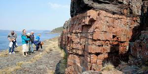 Storön. Geologiskt intressanta områden väntar – för den som lyckas ta sig hit.