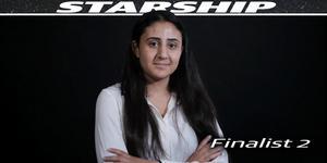 Lara Kassem vill få hjälp att vidareutveckla sitt företagskoncept Elevhjälpen. Bild från inslaget om Starship.