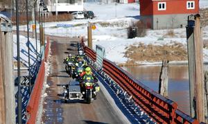 Så här såg det ut när motorcyklisterna för två år sedan lämnade Gagnef för en tur till Röros.