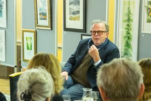 Krister Henriksson hade mycket att berätta om Henning Mankell, om att spela huvudrollen som Kurt Wallander i succéfilmserien och om sin relation till författaren och dramatikern.