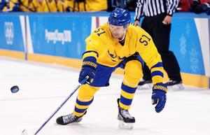Tre Kronors Jonas Ahnelöv under OS-premiären mot Norge. Bild: Petter Arvidson/Bildbyrån.
