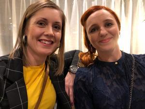 Kristin Jacobson och Anna Liljenbring gillar stämningen på Scandic.