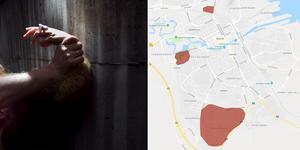 Våldtäktsförsöken skedde i Andersberg, vid högskolan i närheten av Boulognerskogen och utanför Willys på Norr. Bild: TT/Google maps
