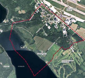 Programområdet består totalt av 232 hektar, där 37 hektar är åkermark som ska bevaras, 87 hektar är skog och 48 hektar vattenområde. Resterande mark omfattar turistisk verksamhet, kontor, industri och idrott. Illustration ur planprogrammet