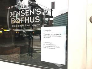 Jensens Böfhus i Gallerian har gett upp.