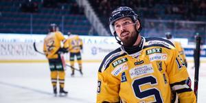 Foto: Julia Koch/Bildbyrån. Mikael Ahlén väljer att avsluta karriären som ishockeyspelare. Säsongen i SSK blev hans sista.