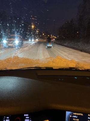 Man fick köra försiktigt i snövädret. Bild från Jönköping. Foto: Christos Karaiskos