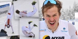 Olle Jonsson – en otippade vinnare som bjöd på show. Foto: SVT (Skärmdump) / TT