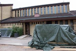 Hela ombyggnaden av Britsarvsskolan ska vara klar nästa höst.