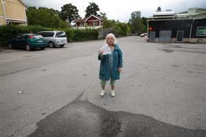 Agneta Haptén föreslår skyltning även på långsidan, mot järnvägsspåret till, så att inte fler missar vilka regler som gäller.