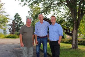Trion Arne Eriksson, Lennart Silfverin och Fredrik Rönning.