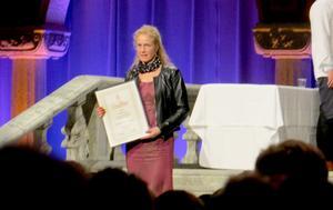"""""""Jag hade en fantastisk kväll i Blå hallen vid gesällbrevsutdelningen"""", säger Eva Olanders."""