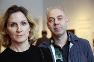 Anna Edsjö och Malvin Karlsson är utställningsarkitekter med uppdrag på Hälsinglands museum.