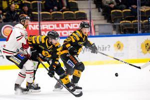 Marcus Weinstock i den förra matchen mot Skellefteå. Bild: Ola Westerberg/Bildbyrån