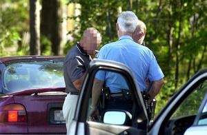 Mannen trodde inte att han var påverkad när han stoppades av polis. (Bilden från en annan incident)