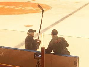 Brett Stewart och Alex Henry i Gavlerinken. Foto: Magnus Hägerborn