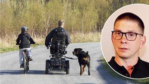 Örebroaren Anders Karlsson (lilla bilden) har långt gångna planer på en föräldragrupp för mammor och pappor med funktionsvariationer. Fotomontage: NA/TT