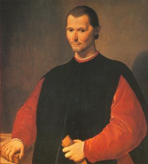 Niccolò Machiavelli. Målning av Santi di Tito.