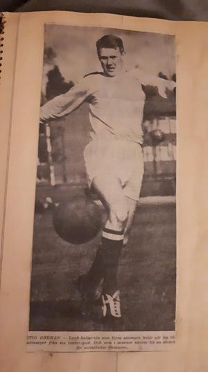 Kiefers morfar Stig Öhrman i ett tidningsutklipp från sent 50-tal. Stig var Laxås skyttekung på den tiden. Bild: Privat