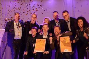 Vinnare i ABB:s draknäste blev Chalmersbaserade Eneryield. I Mälarenergis draknäste stod till slut Envista från Linköping som segrare. Foto: Elin Parment, HUB2019