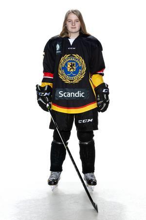 Foto: Lars-Åke Johansson/Södermanlands  Ishockeyförbund. Wilma Lindgren.