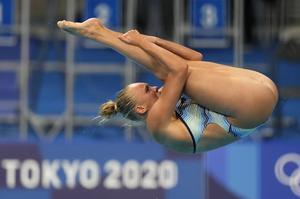 De tolv bästa hopparna i semifinalen gick vidare till final, Emma Gullstrand slutade på trettonde plats. Foto: Dmitri Lovetsky/AP/TT