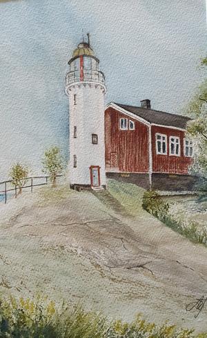 Akvarell av Märit Jonsson