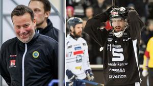 Förbundskapten Svenne Olsson och Rasmus Forslund. Foto: Rikard Bäckman / TT